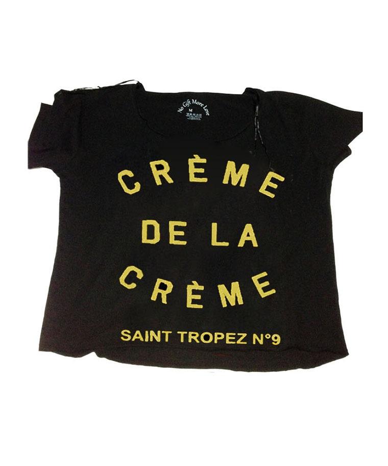 CROPPED T-SHIRT CRÉME DE LA CRÉME