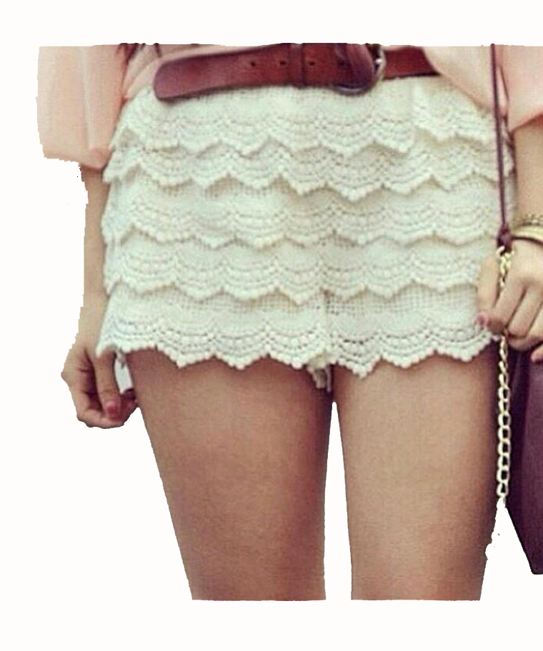 SHORTS IN PIZZO MACRAMÉ